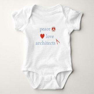 Body Para Bebê Arquitetos do amor da paz