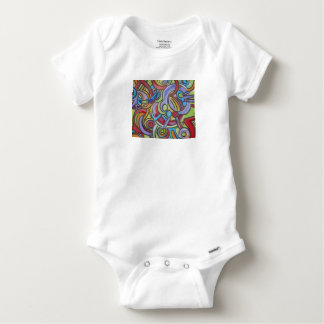 Body Para Bebê Arte abstracta do ponto morto do Delirante-Género