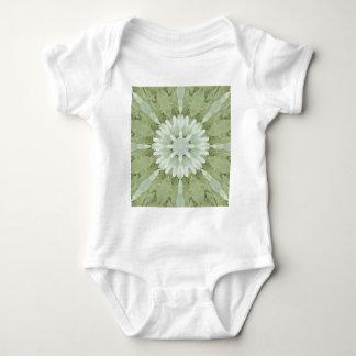 Body Para Bebê arte abstrata floral branca da casa do casamento
