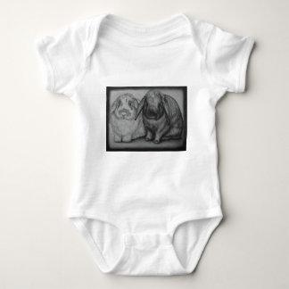 Body Para Bebê Arte animal do giz do coelho do desenho do coelho
