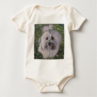 Body Para Bebê Arte bonita do cão de Havanese