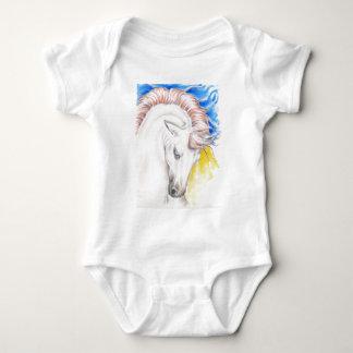 Body Para Bebê Arte da aguarela do cavalo