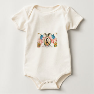Body Para Bebê arte da bandeira do abe