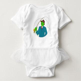 Body Para Bebê Arte da camada de sujidade do carretel de Rod de
