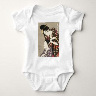 Body Para Bebê Arte de Utamaro Yuyudo Ukiyo-e do cabeleireiro das
