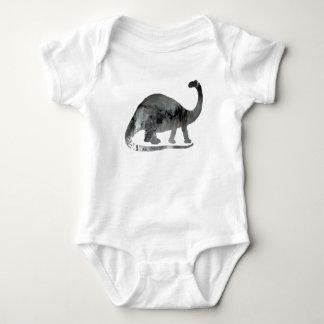 Body Para Bebê Arte do Brontosaurus
