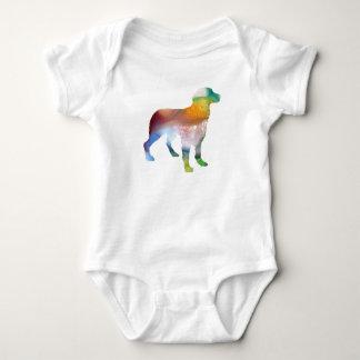 Body Para Bebê Arte do cão de Brittany