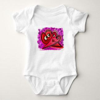 Body Para Bebê Arte do casal do coração