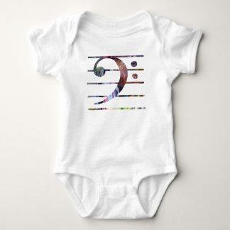 Body Para Bebê Arte do Clef baixo