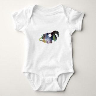 Body Para Bebê Arte do crânio da cabra