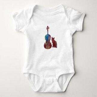Body Para Bebê Arte do gato da viola