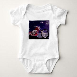 Body Para Bebê Arte do luar da motocicleta