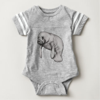 Body Para Bebê arte do peixe-boi