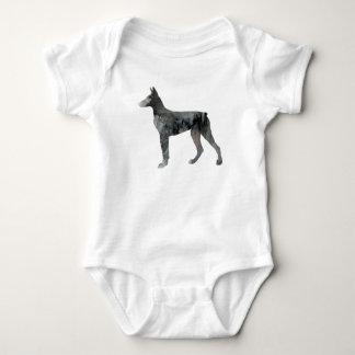 Body Para Bebê Arte do Pinscher do Doberman