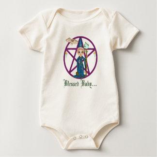 Body Para Bebê Arte do pixel de Penctacle da mulher de Witchy