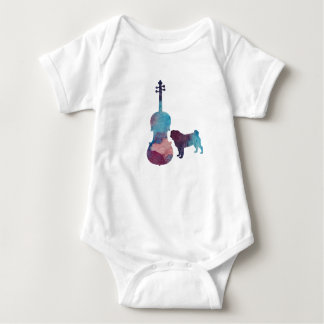 Body Para Bebê Arte do pug da viola