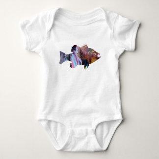 Body Para Bebê Arte dos peixes (vara)