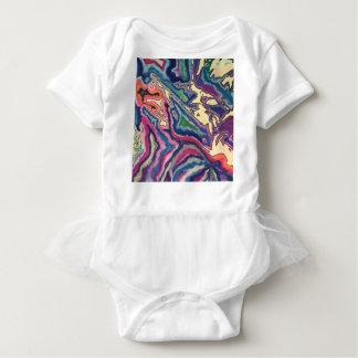 Body Para Bebê Arte topográfica do lenço de papel mim