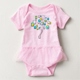 Body Para Bebê Árvore abstrata das figuras metal