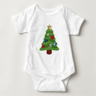 Body Para Bebê árvore de Natal do emoji