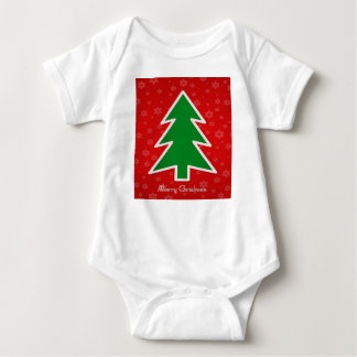 Body Para Bebê Árvore do Feliz Natal com floco de neve