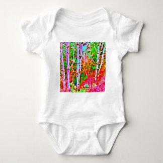 Body Para Bebê Árvores de vidoeiro na primavera