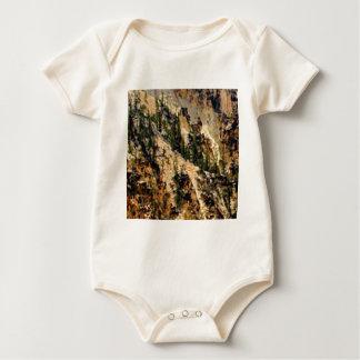 Body Para Bebê árvores e inclinação amarela