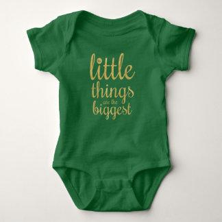 Body Para Bebê As coisas pequenas são o Bodysuit o mais grande de