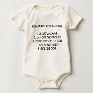 Body Para Bebê As definições de ano novo do bebê