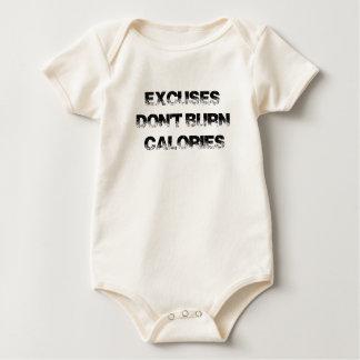 Body Para Bebê As desculpas não queimam calorias - exercite,