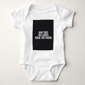 Body Para Bebê As dificuldades revelarão sempre amigos