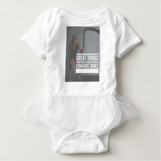 Body Para Bebê As grandes coisas nunca vieram das zonas de
