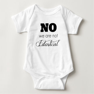"""Body Para Bebê As ideias gêmeas do presente do bebê """"nenhumas nós"""