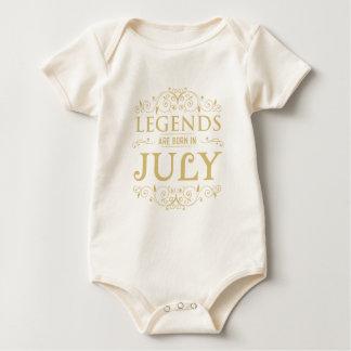 Body Para Bebê as legendas são em-Julho nascido