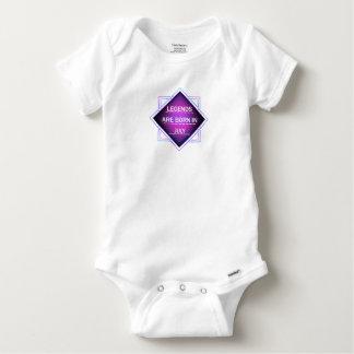 Body Para Bebê As legendas são nascidas em julho