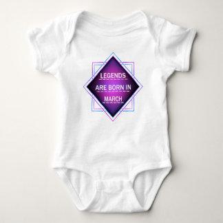 Body Para Bebê As legendas são nascidas em março