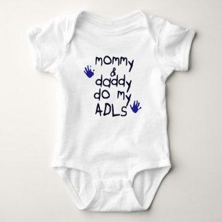 Body Para Bebê As mamães & o pai fazem meu bebê azul do handprint