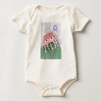 Body Para Bebê As medusa penteiam Babygro orgânico