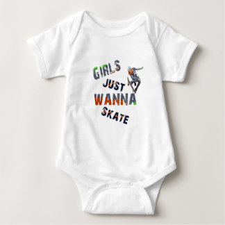 Body Para Bebê As meninas apenas querem patinar