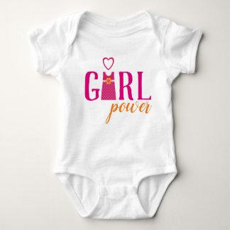 Body Para Bebê As meninas bonitos vestem o poder fúcsia