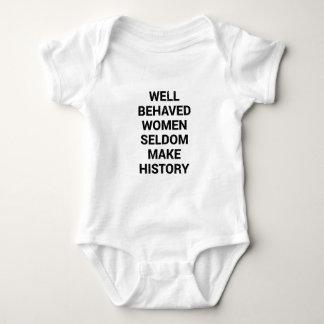 Body Para Bebê As mulheres bem comportadas fazem raramente a