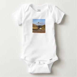 Body Para Bebê As mulheres voam: Helicóptero 2 (brancos)