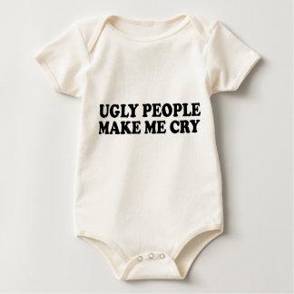 Body Para Bebê As pessoas feias fazem-me gritar