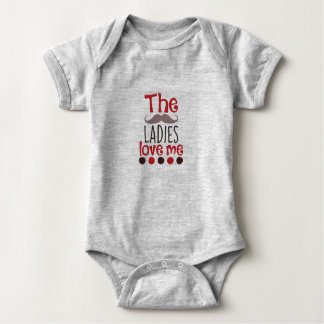 Body Para Bebê As senhoras amam-me Bodysuit