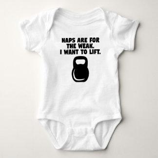 Body Para Bebê As sestas são para o fraco mim querem levantar