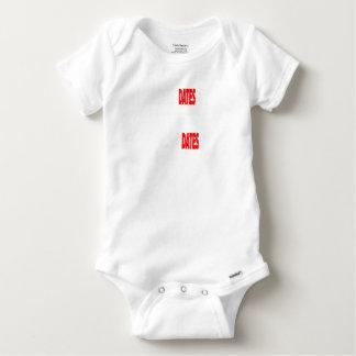 Body Para Bebê As únicas datas onde eu obtenho são actualizações