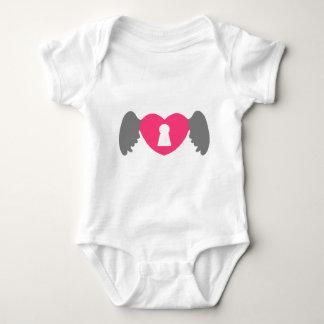 Body Para Bebê Asa do coração do buraco da fechadura