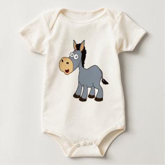 Body Para Bebê asno cinzento