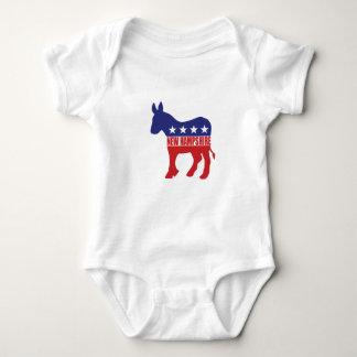 Body Para Bebê Asno de New Hampshire Democrata