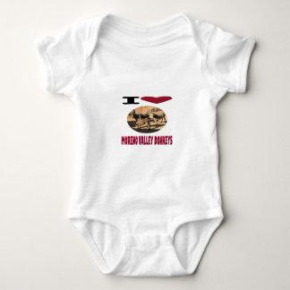 Body Para Bebê Asnos de Moreno Valley do amor